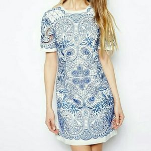 Asos Embroidered Tunic Dress